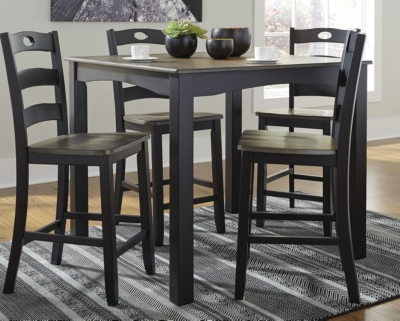Fallbrook Counter Height Dining Room Table and Bar Stools (Set of 5)