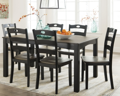 Fallbrook Dining Room Table and Chairs (Set of 7)