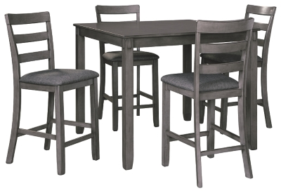 Barstow Counter Height Dining Room Table and Bar Stools (Set of 5)