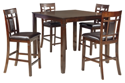 Brooks Counter Height Dining Room Table and Bar Stools (Set of 5)