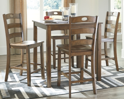 Hanford Counter Height Dining Room Table and Bar Stools (Set of 5)