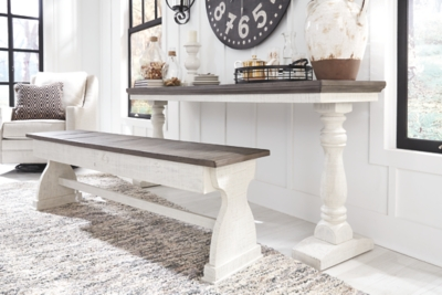 Ballico Dining Room Table and Bench (Set of 2)