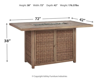Beachcroft Bar Table with Fire Pit