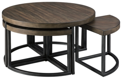 Julian Coffee Table with Stools (Set of 5)