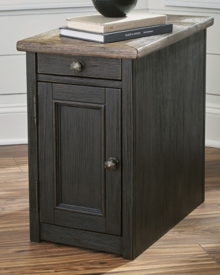 Tupelo Chairside End Table with USB Ports & Outlets