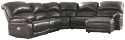 Harvey 5-Piece Power Reclining Sectional with Chaise