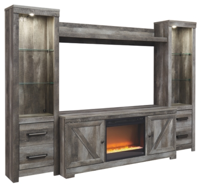 Winterhaven 4-Piece Entertainment Center with Electric Fireplace