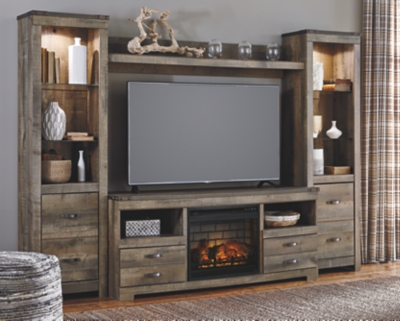 Trenton 4-Piece Entertainment Center with Electric Fireplace