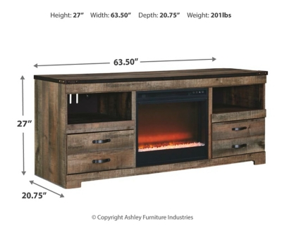 """Trenton 63"""" TV Stand with Electric Fireplace"""