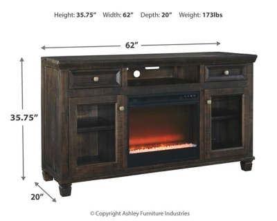 """Townser 62"""" TV Stand with Electric Fireplace"""