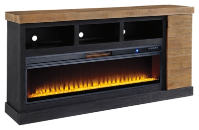"""Tonnari 74"""" TV Stand with Electric Fireplace"""