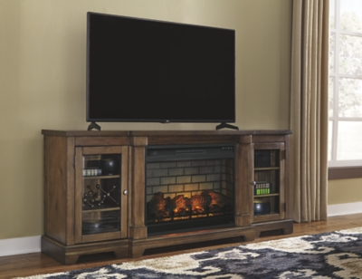 "Freeport 75"" TV Stand with Electric Fireplace"