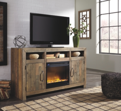 "Sanger 62"" TV Stand with Electric Fireplace"