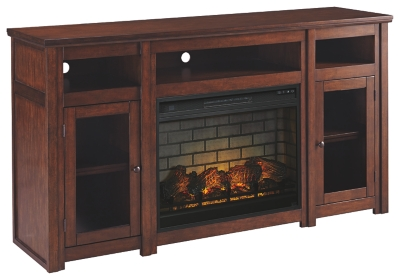 "Harrison 63"" TV Stand with Electric Fireplace"