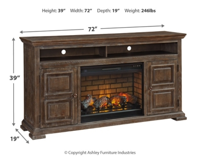 """Woodacre 72"""" TV Stand with Electric Fireplace"""
